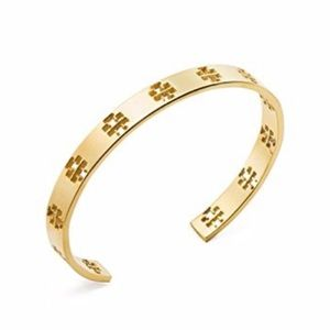 Tory Burch Gold T Logo Cuff